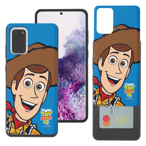 Galaxy S20 Plus Case (6.7inch) Toy Story Slim Slider Card Slot Dual Layer Holder Bumper Cover - Wide Woody