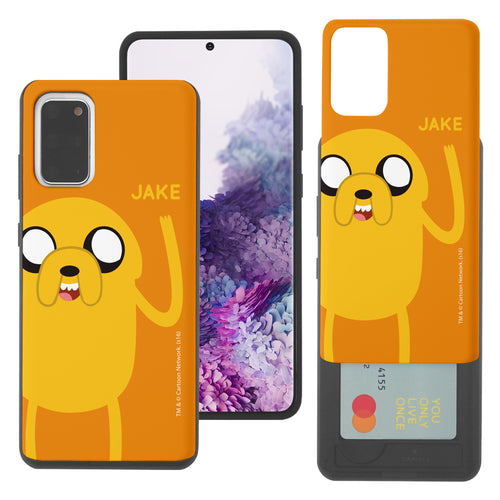 Galaxy Note20 Ultra Case (6.9inch) Adventure Time Slim Slider Card Slot Dual Layer Holder Bumper Cover - Cuty Jake