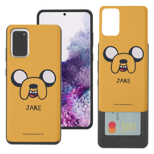 Galaxy Note20 Ultra Case (6.9inch) Adventure Time Slim Slider Card Slot Dual Layer Holder Bumper Cover - Jake