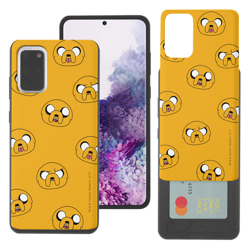 Galaxy Note20 Ultra Case (6.9inch) Adventure Time Slim Slider Card Slot Dual Layer Holder Bumper Cover - Pattern Jake
