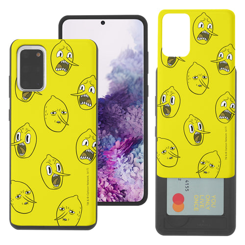 Galaxy Note20 Ultra Case (6.9inch) Adventure Time Slim Slider Card Slot Dual Layer Holder Bumper Cover - Pattern Lemongrab