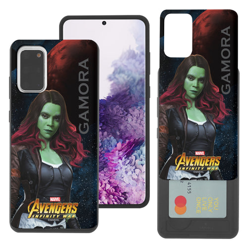 Galaxy S20 Case (6.2inch) Marvel Avengers Slim Slider Card Slot Dual Layer Holder Bumper Cover - Infinity War Gamora