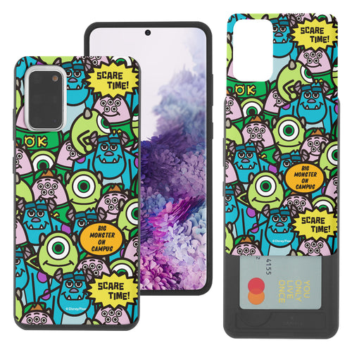 Galaxy Note20 Case (6.7inch) Monsters University inc Slim Slider Card Slot Dual Layer Holder Bumper Cover - Pattern Face