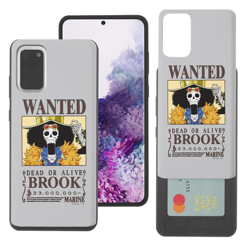 Galaxy S20 Plus Case (6.7inch) ONE PIECE Slim Slider Card Slot Dual Layer Holder Bumper Cover - Look Brook