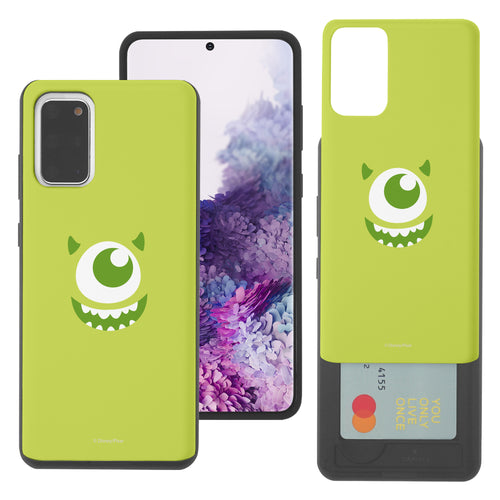 Galaxy Note20 Case (6.7inch) Monsters University inc Slim Slider Card Slot Dual Layer Holder Bumper Cover - Face Mike
