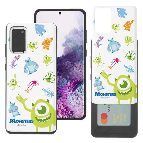 Galaxy Note20 Case (6.7inch) Monsters University inc Slim Slider Card Slot Dual Layer Holder Bumper Cover - Pattern Monsters