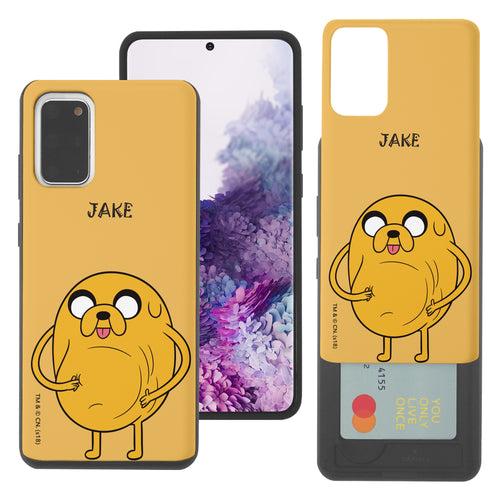 Galaxy Note20 Ultra Case (6.9inch) Adventure Time Slim Slider Card Slot Dual Layer Holder Bumper Cover - Lovely Jake