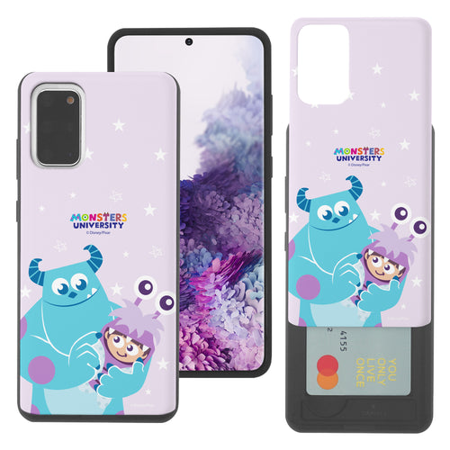 Galaxy Note20 Case (6.7inch) Monsters University inc Slim Slider Card Slot Dual Layer Holder Bumper Cover - Full Boo