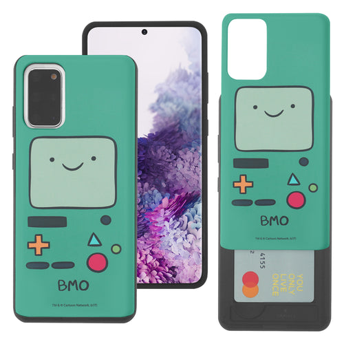 Galaxy Note20 Ultra Case (6.9inch) Adventure Time Slim Slider Card Slot Dual Layer Holder Bumper Cover - Beemo (BMO)