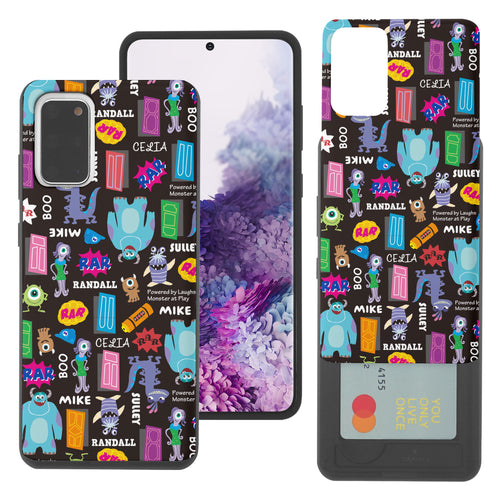 Galaxy Note20 Case (6.7inch) Monsters University inc Slim Slider Card Slot Dual Layer Holder Bumper Cover - Pattern Name Black