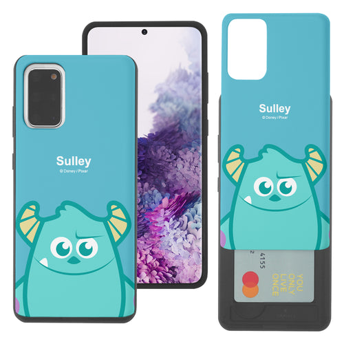 Galaxy Note20 Case (6.7inch) Monsters University inc Slim Slider Card Slot Dual Layer Holder Bumper Cover - Big Sulley