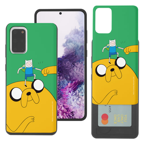 Galaxy Note20 Ultra Case (6.9inch) Adventure Time Slim Slider Card Slot Dual Layer Holder Bumper Cover - Cuty Jake Big