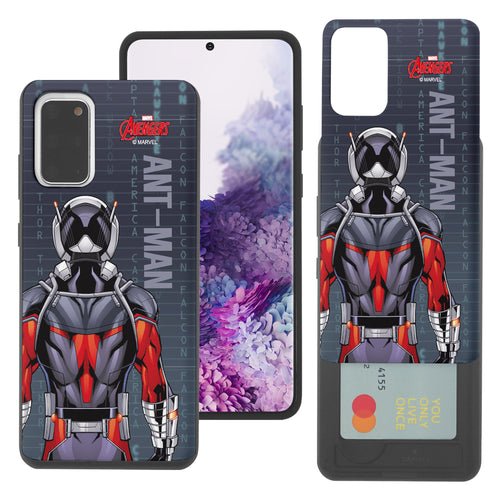 Galaxy Note20 Ultra Case (6.9inch) Marvel Avengers Slim Slider Card Slot Dual Layer Holder Bumper Cover - Back Ant Man