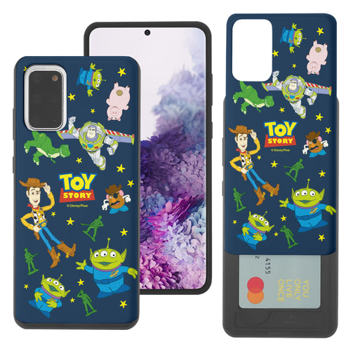 Galaxy S20 Plus Case (6.7inch) Toy Story Slim Slider Card Slot Dual Layer Holder Bumper Cover - Pattern Toy Story
