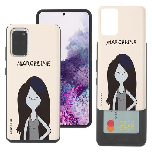 Galaxy Note20 Ultra Case (6.9inch) Adventure Time Slim Slider Card Slot Dual Layer Holder Bumper Cover - Lovely Marceline