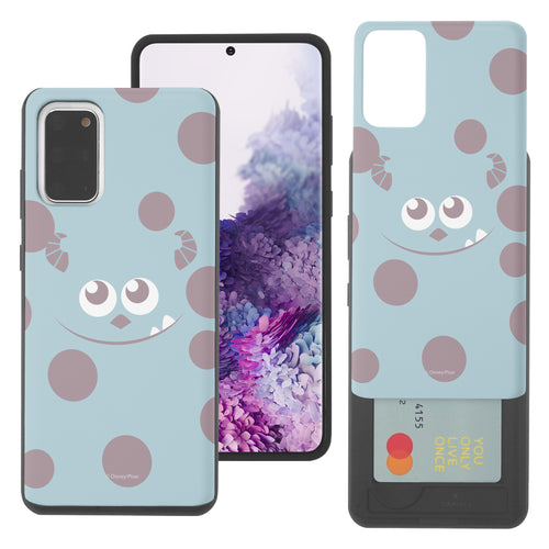 Galaxy Note20 Case (6.7inch) Monsters University inc Slim Slider Card Slot Dual Layer Holder Bumper Cover - Face Sulley