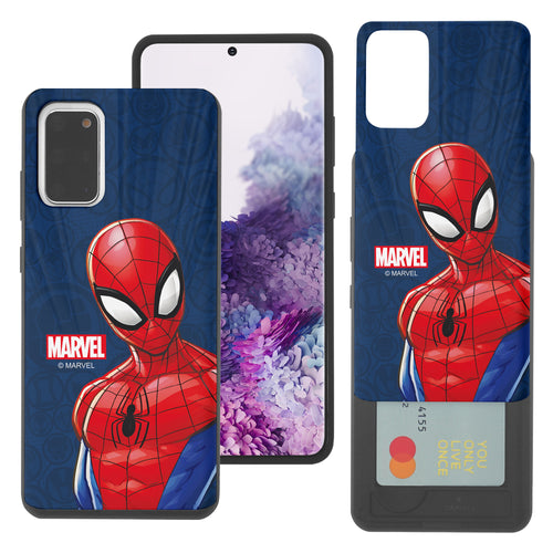 Galaxy Note20 Case (6.7inch) Marvel Avengers Slim Slider Card Slot Dual Layer Holder Bumper Cover - Illustration Spider Man