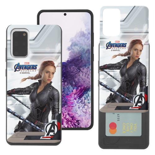 Galaxy Note20 Case (6.7inch) Marvel Avengers Slim Slider Card Slot Dual Layer Holder Bumper Cover - End Game Black Widow