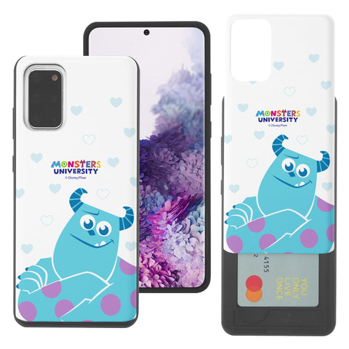 Galaxy Note20 Case (6.7inch) Monsters University inc Slim Slider Card Slot Dual Layer Holder Bumper Cover - Full Sulley