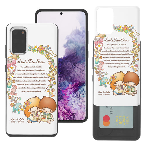Galaxy S20 Ultra Case (6.9inch) Sanrio Slim Slider Card Slot Dual Layer Holder Bumper Cover - Little Twin Stars Story