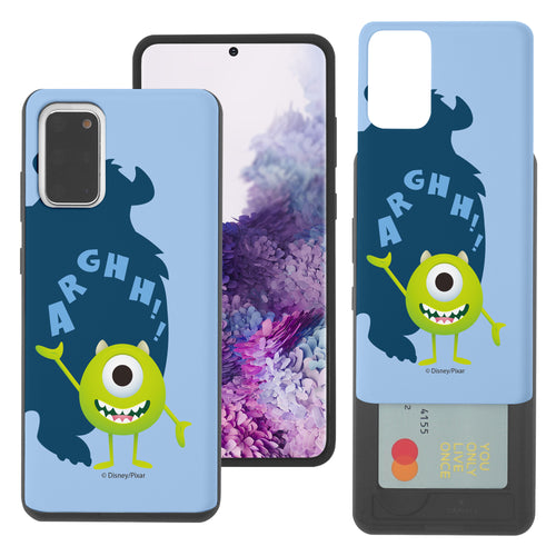 Galaxy Note20 Case (6.7inch) Monsters University inc Slim Slider Card Slot Dual Layer Holder Bumper Cover - Simple Mike