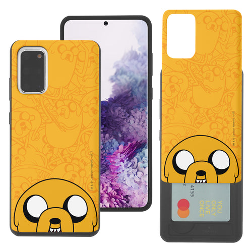 Galaxy Note20 Ultra Case (6.9inch) Adventure Time Slim Slider Card Slot Dual Layer Holder Bumper Cover - Pattern Jake Big