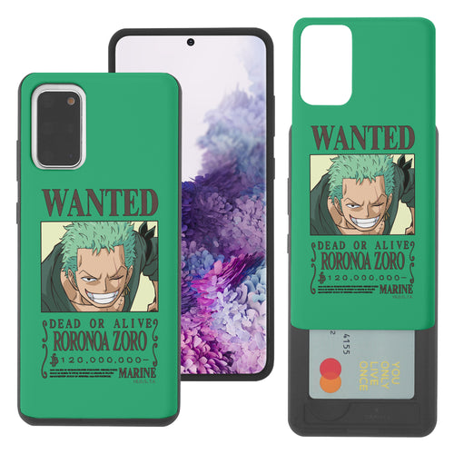 Galaxy S20 Plus Case (6.7inch) ONE PIECE Slim Slider Card Slot Dual Layer Holder Bumper Cover - Look Zoro