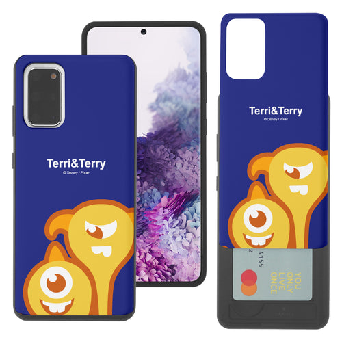Galaxy Note20 Case (6.7inch) Monsters University inc Slim Slider Card Slot Dual Layer Holder Bumper Cover - Big Terri and Terry