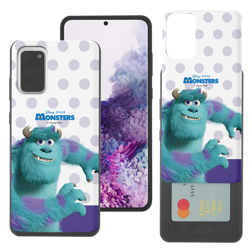 Galaxy Note20 Case (6.7inch) Monsters University inc Slim Slider Card Slot Dual Layer Holder Bumper Cover - Movie Sulley