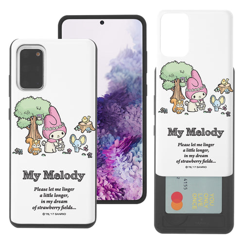 Galaxy S20 Ultra Case (6.9inch) Sanrio Slim Slider Card Slot Dual Layer Holder Bumper Cover - My Melody Tree