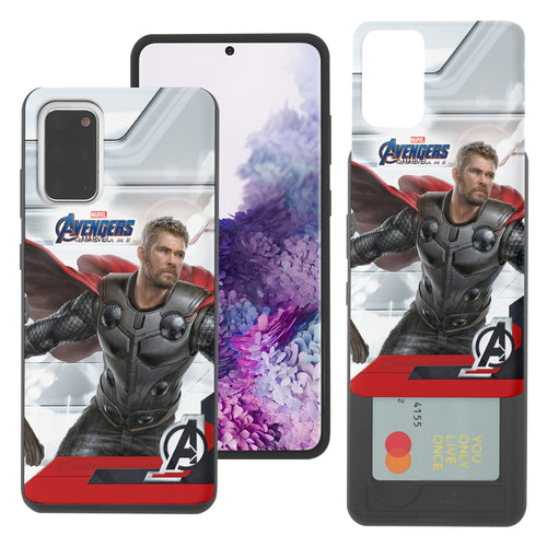 Galaxy S20 Case (6.2inch) Marvel Avengers Slim Slider Card Slot Dual Layer Holder Bumper Cover - End Game Thor
