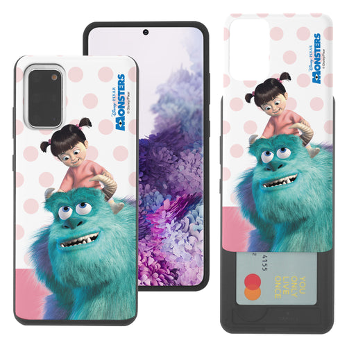 Galaxy Note20 Case (6.7inch) Monsters University inc Slim Slider Card Slot Dual Layer Holder Bumper Cover - Movie Boo