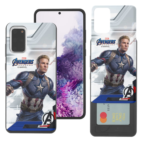Galaxy S20 Case (6.2inch) Marvel Avengers Slim Slider Card Slot Dual Layer Holder Bumper Cover - End Game Captain America