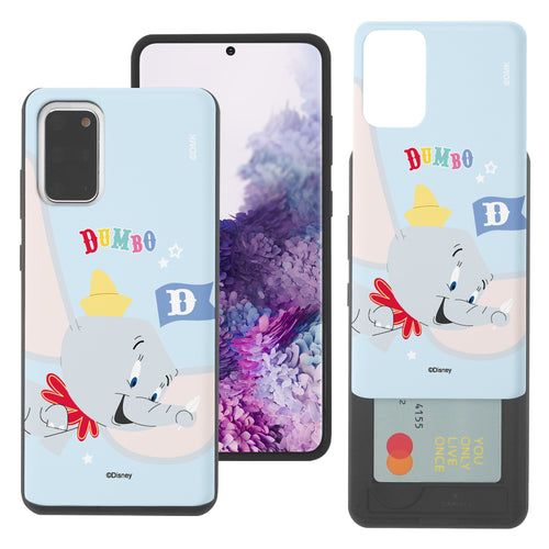 Galaxy S20 Ultra Case (6.9inch) Disney Dumbo Slim Slider Card Slot Dual Layer Holder Bumper Cover - Dumbo Fly