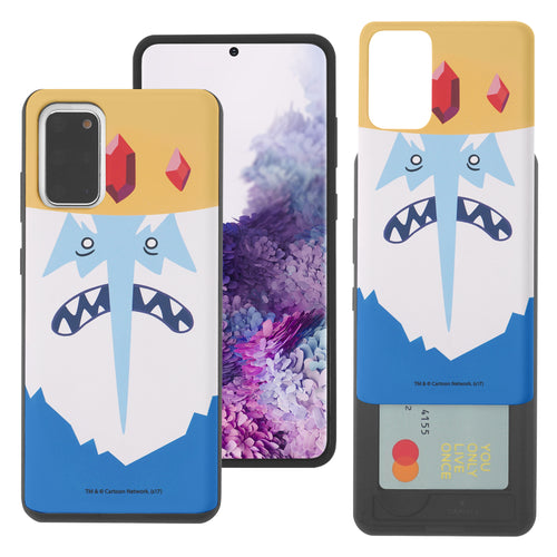 Galaxy Note20 Ultra Case (6.9inch) Adventure Time Slim Slider Card Slot Dual Layer Holder Bumper Cover - Ice King