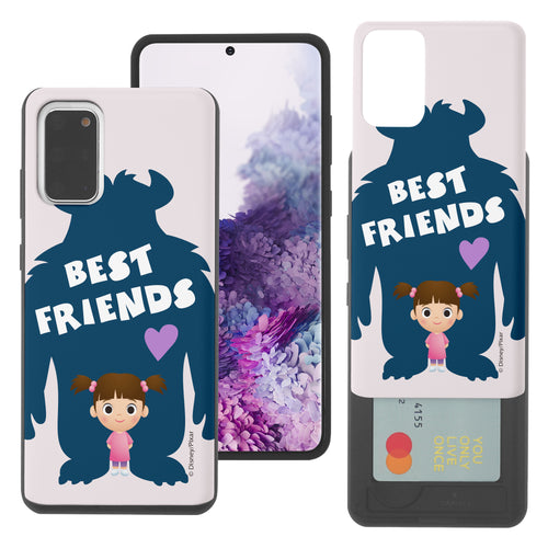 Galaxy Note20 Case (6.7inch) Monsters University inc Slim Slider Card Slot Dual Layer Holder Bumper Cover - Simple Boo