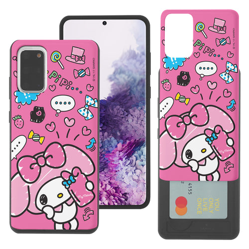 Galaxy S20 Ultra Case (6.9inch) Sanrio Slim Slider Card Slot Dual Layer Holder Bumper Cover - Selfie My Melody