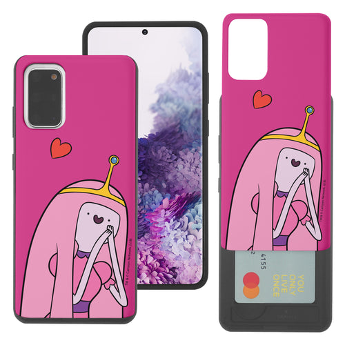 Galaxy Note20 Ultra Case (6.9inch) Adventure Time Slim Slider Card Slot Dual Layer Holder Bumper Cover - Vivid Princess Bubblegum