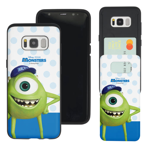 Galaxy S8 Plus Case Monsters University inc Slim Slider Card Slot Dual Layer Holder Bumper Cover - Movie Mike