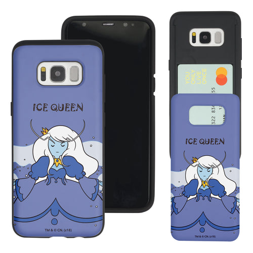 Galaxy S7 Edge Case Adventure Time Slim Slider Card Slot Dual Layer Holder Bumper Cover - Lovely Ice Queen