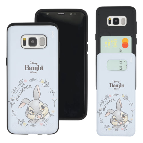 Galaxy Note5 Case Disney Bambi Slim Slider Card Slot Dual Layer Holder Bumper Cover - Face Thumper