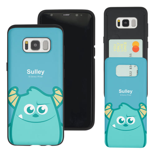 Galaxy S8 Plus Case Monsters University inc Slim Slider Card Slot Dual Layer Holder Bumper Cover - Big Sulley