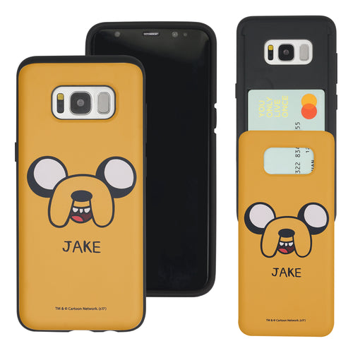 Galaxy S7 Edge Case Adventure Time Slim Slider Card Slot Dual Layer Holder Bumper Cover - Jake