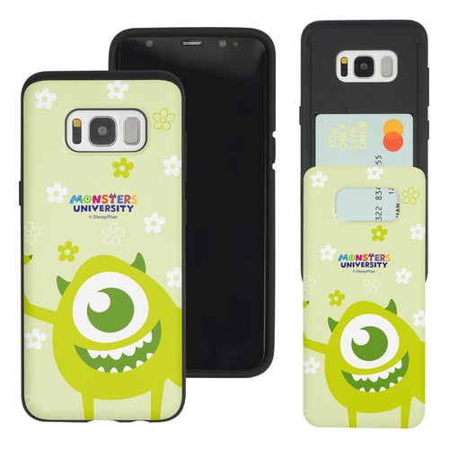 Galaxy S8 Plus Case Monsters University inc Slim Slider Card Slot Dual Layer Holder Bumper Cover - Full Mike