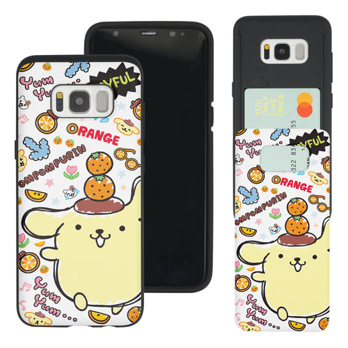 Galaxy Note5 Case Sanrio Slim Slider Card Slot Dual Layer Holder Bumper Cover - Fun Pompompurin