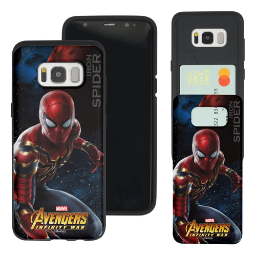 Galaxy S7 Edge Case Marvel Avengers Slim Slider Card Slot Dual Layer Holder Bumper Cover - Infinity War Spider Man