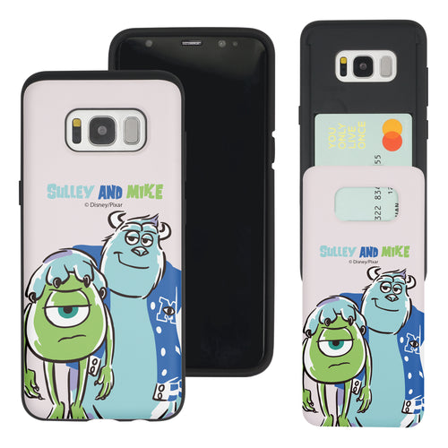 Galaxy S8 Plus Case Monsters University inc Slim Slider Card Slot Dual Layer Holder Bumper Cover - Cartoon University