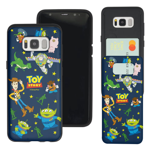 Galaxy S8 Plus Case Toy Story Slim Slider Card Slot Dual Layer Holder Bumper Cover - Pattern Toy Story