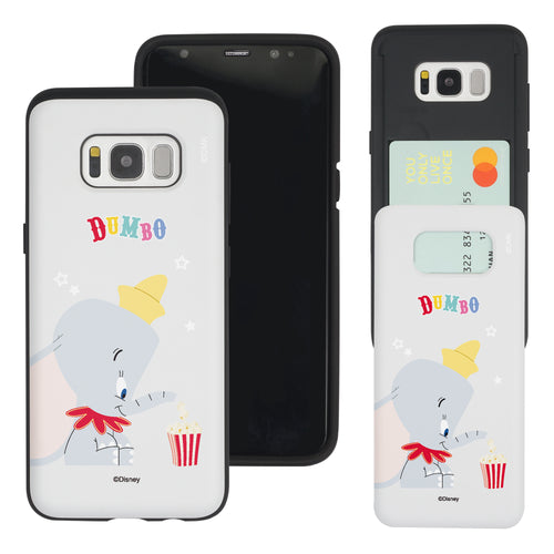 Galaxy Note5 Case Disney Dumbo Slim Slider Card Slot Dual Layer Holder Bumper Cover - Dumbo Popcorn