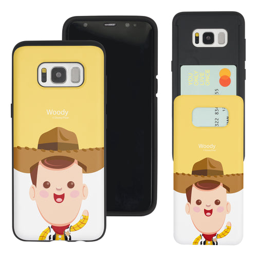 Galaxy S8 Plus Case Toy Story Slim Slider Card Slot Dual Layer Holder Bumper Cover - Baby Woody
